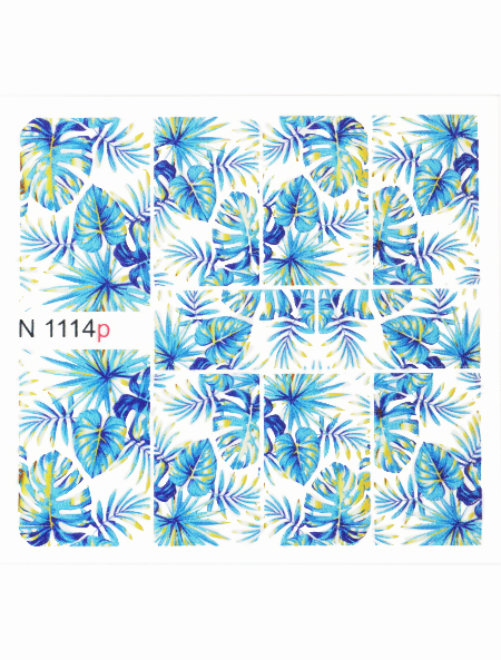 Water decals, nail stickers N 1114