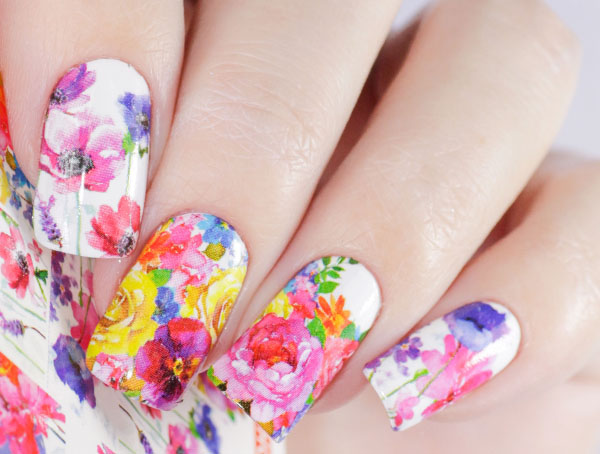 Water decals, nail stickers N 1066 image