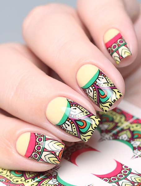 Water decals, nail stickers N 0695 p image