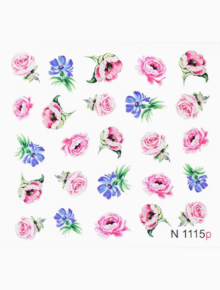 Water decals, nail stickers N 1115
