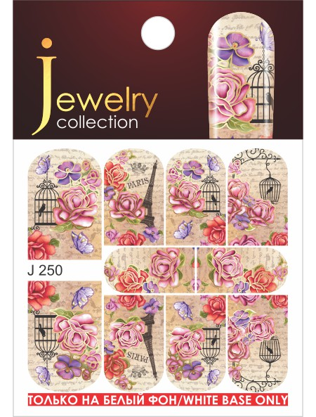 Water decals, nail stickers J 250