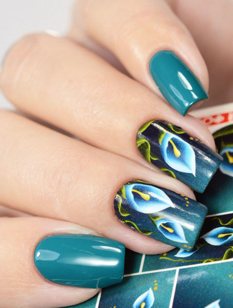 Water decals, nail stickers N 0936 image