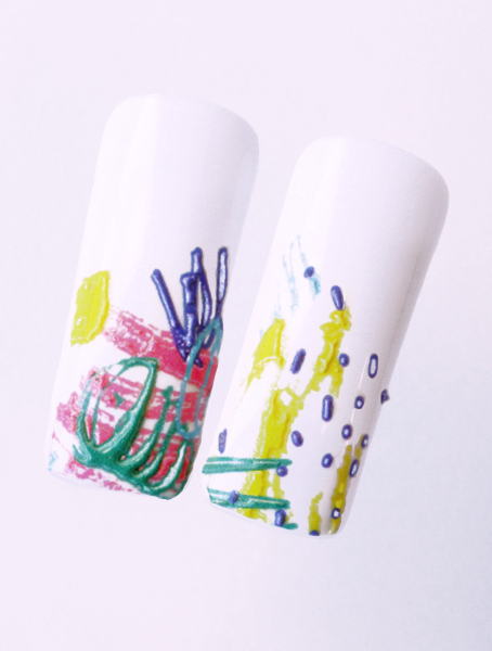 Water decals, nail stickers 3D-слайдер B145 image