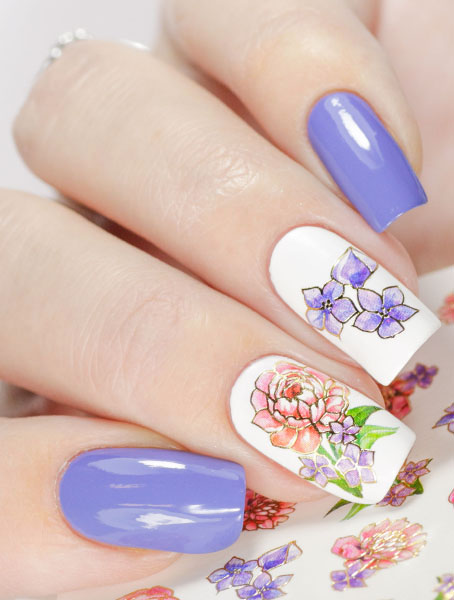 Water decals, nail stickers J 249 p image