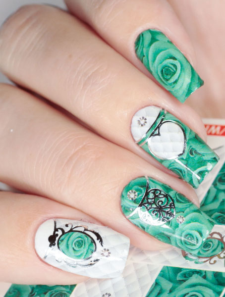Water decals, nail stickers J 238 image