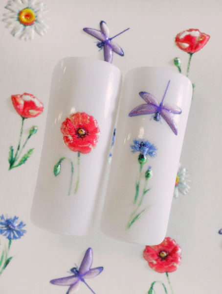 Water decals, nail stickers 3D-слайдер B134 image