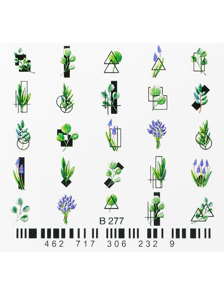Water decals, nail stickers 3D-слайдер B277 image