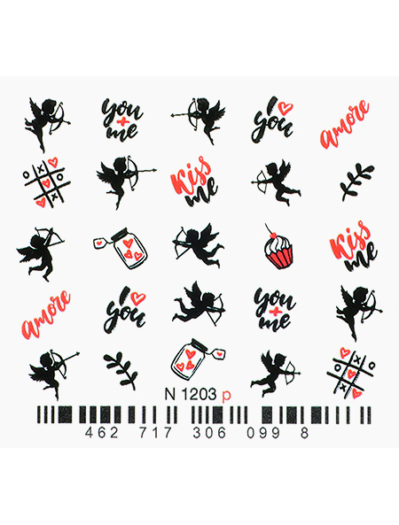 Water decals, nail stickers N 1203 image