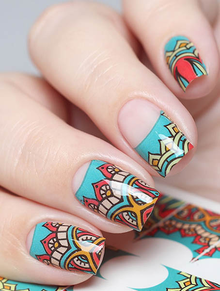 Water decals, nail stickers N 0696 p image