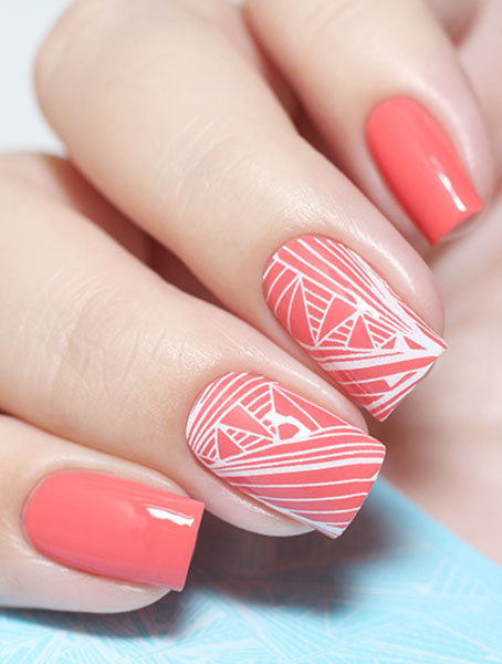 Water decals, nail stickers F 069 белый image