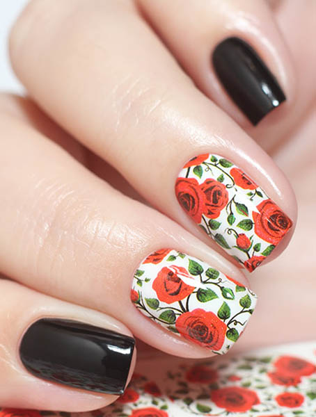 Water decals, nail stickers N 0251 image