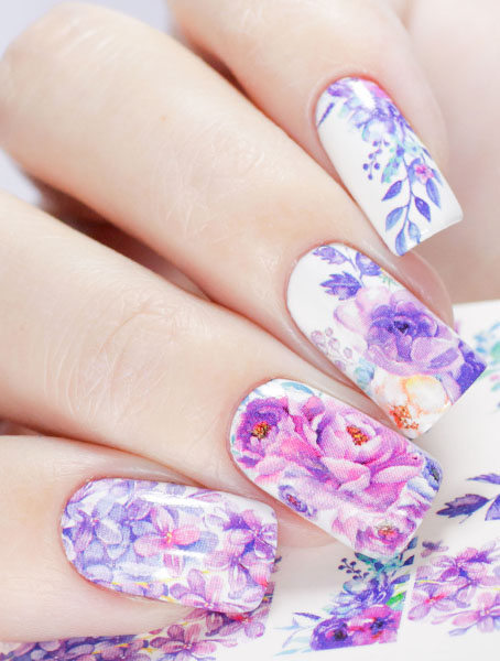 Water decals, nail stickers N 1008 image