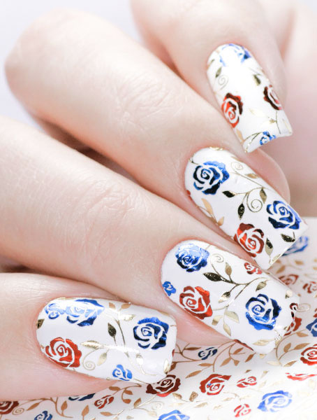 Water decals, nail stickers F 186 image