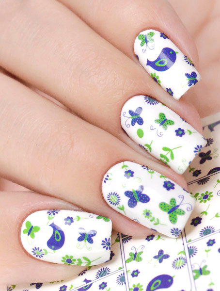 Water decals, nail stickers N 0879 image