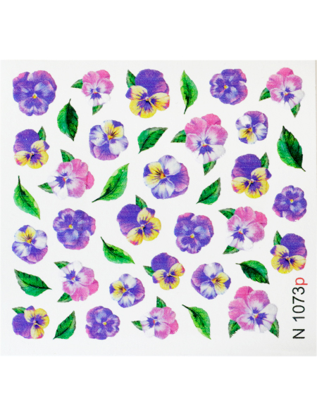 Water decals, nail stickers N 1073 p