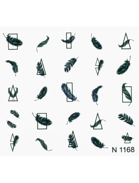 Water decals, nail stickers N 1168 image