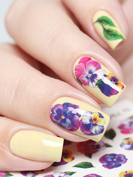 Water decals, nail stickers N 1073 p image