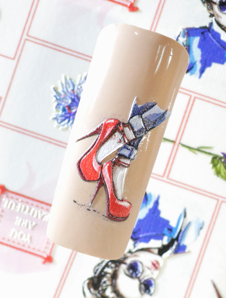 Water decals, nail stickers 3D-слайдер В50 image