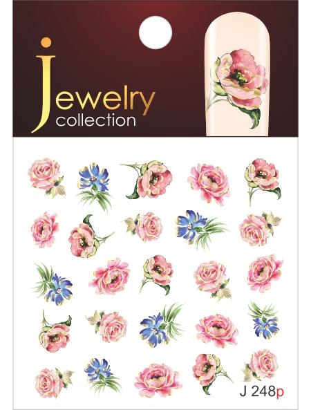 Water decals, nail stickers J 248 p