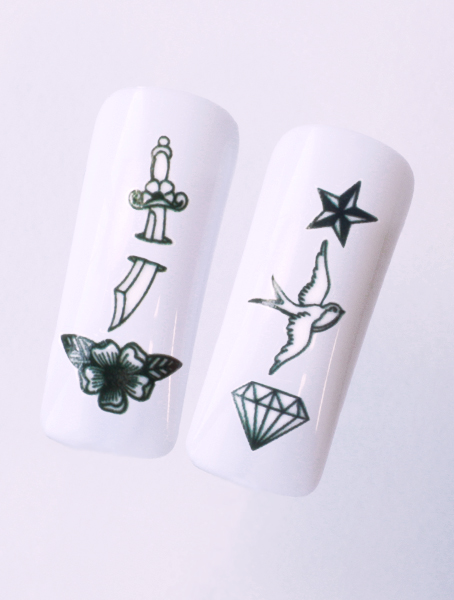 Water decals, nail stickers N 1120 image