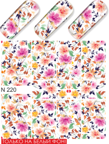 Water decals, nail stickers N 0220