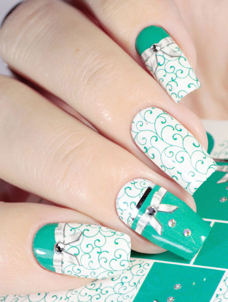Water decals, nail stickers J 239 image