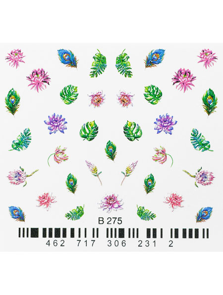 Water decals, nail stickers 3D-слайдер B275 image