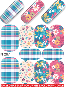 Water decals, nail stickers N 0267