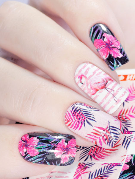 Water decals, nail stickers N 1014 image