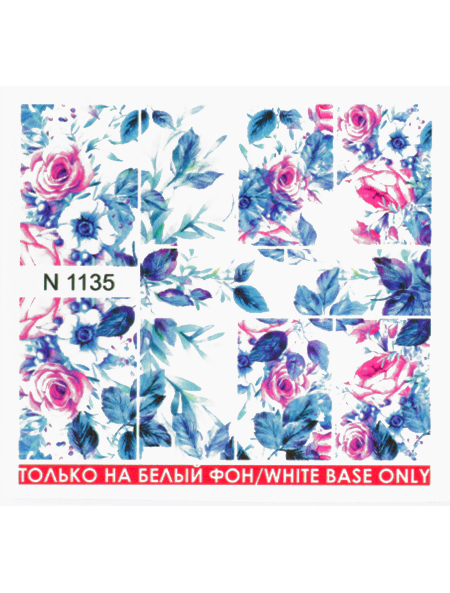 Water decals, nail stickers N 1135