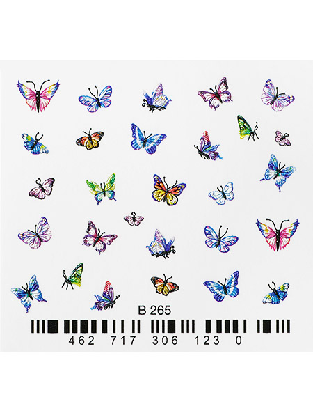 Water decals, nail stickers 3D-слайдер B265 image