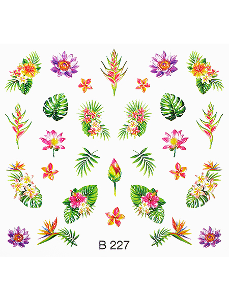 Water decals, nail stickers 3D-слайдер B227 image