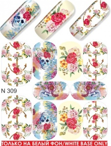 Water decals, nail stickers N 0309 image