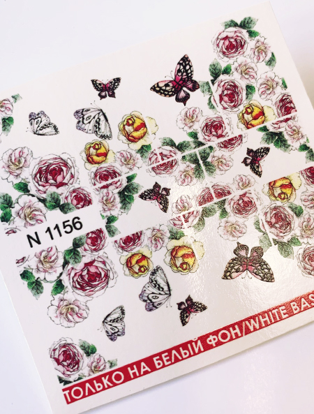 Water decals, nail stickers N 1156