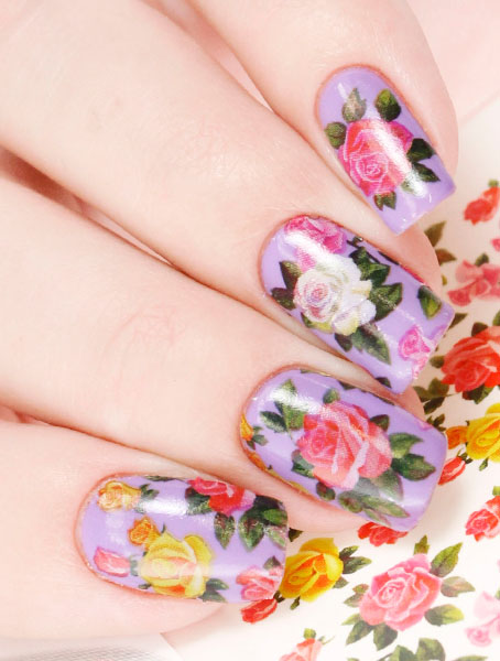 Water decals, nail stickers N 046 p image