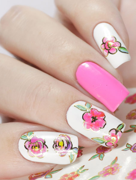 Water decals, nail stickers J 252 p image
