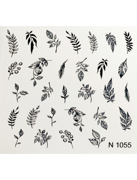 Water decals, nail stickers N 1055