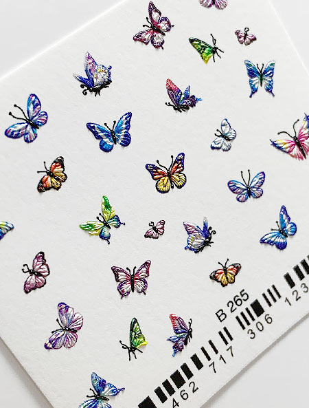 Water decals, nail stickers 3D-слайдер B265