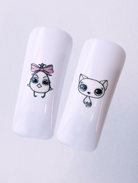 Water decals, nail stickers N 1155 image
