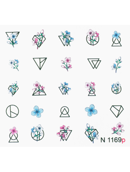 Water decals, nail stickers N 1169 image