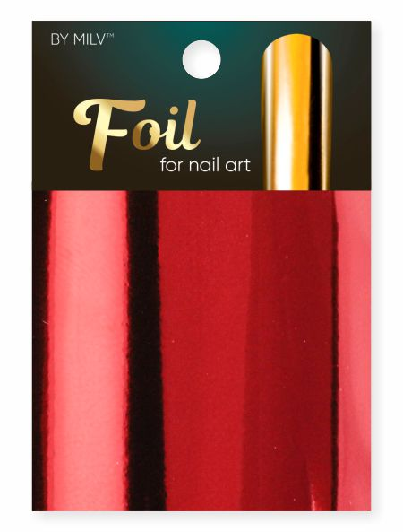 foil for nail art red 162,5 sm².