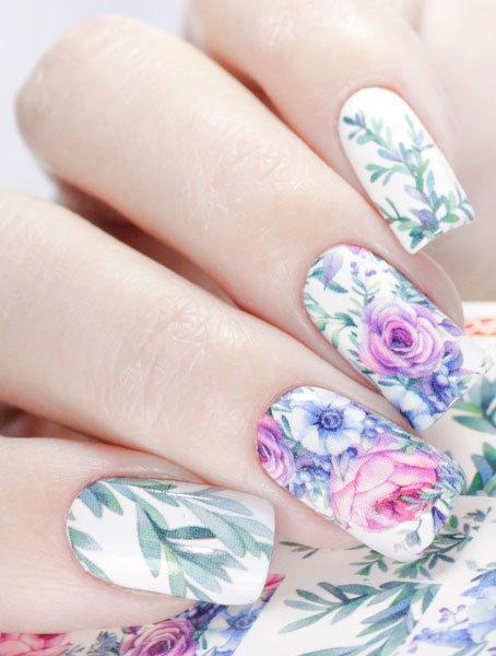 Water decals, nail stickers N 1009 image