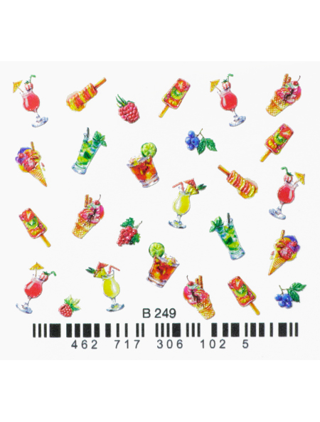 Water decals, nail stickers 3D-слайдер B249 image