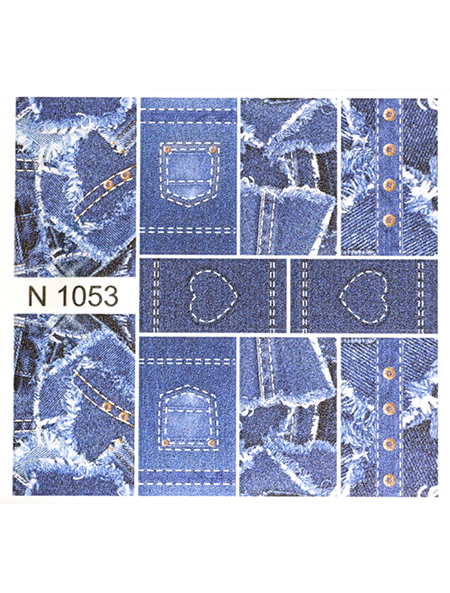 Water decals, nail stickers N 1053