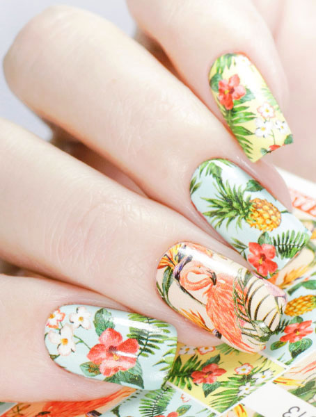 Water decals, nail stickers N 1013 image