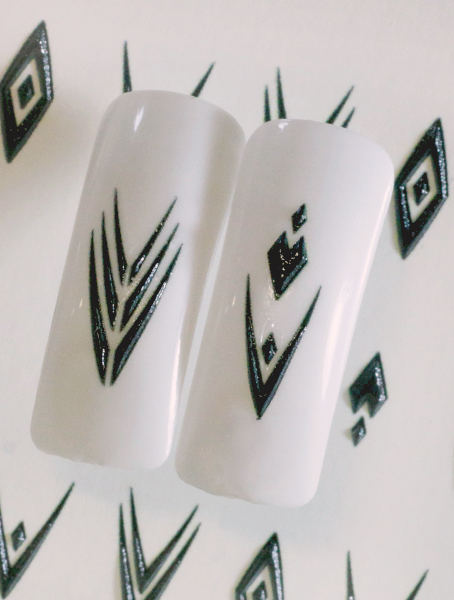Water decals, nail stickers 3D-слайдер B133 image