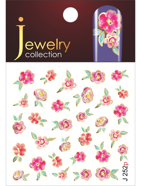 Water decals, nail stickers J 252 p