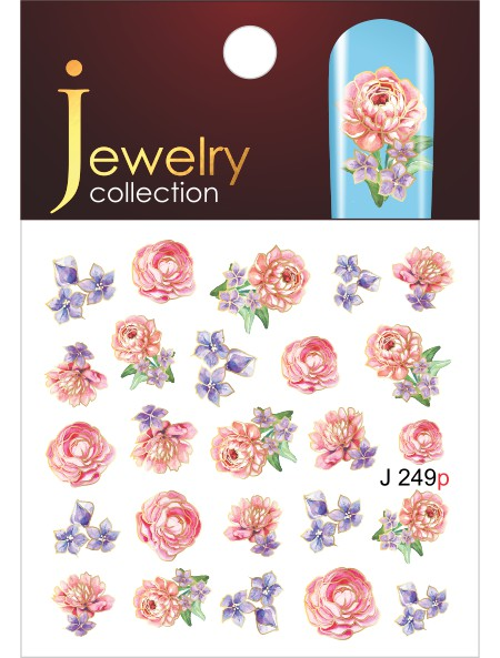 Water decals, nail stickers J 249 p