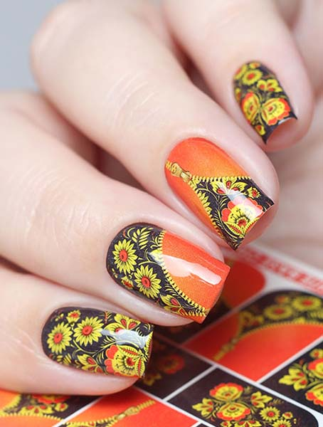 Water decals, nail stickers N 0694 image