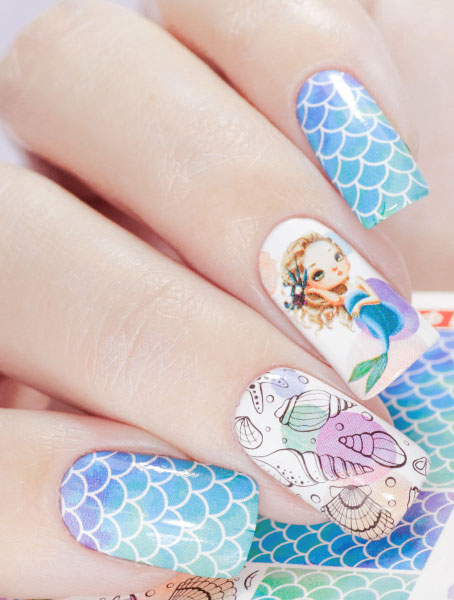 Water decals, nail stickers N 1015 image